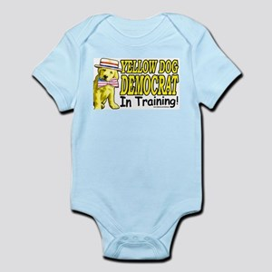 Yellow dog in Training Infant Creeper
