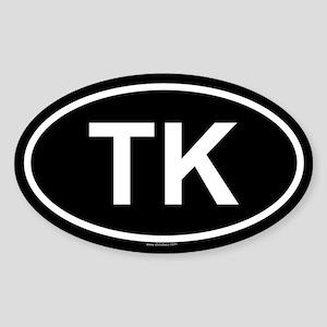 TK Oval Sticker