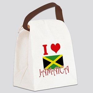 I Love Jamaica Canvas Lunch Bag