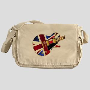Union Jack Flag Guitar Messenger Bag