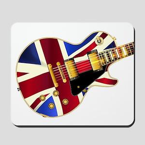 Union Jack Flag Guitar Mousepad