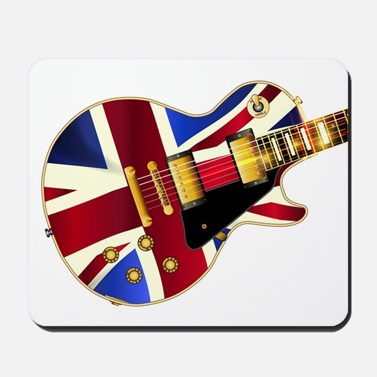 Union Jack Flag Guitar Mousepad