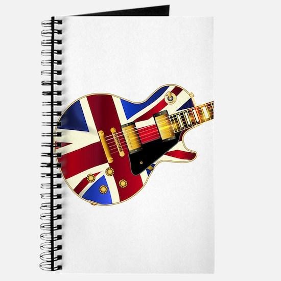 Union Jack Flag Guitar Journal