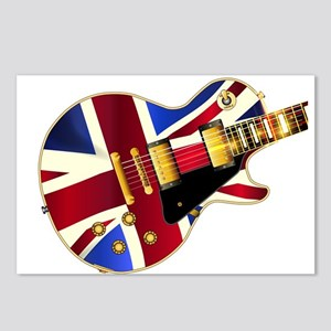 Union Jack Flag Guitar Postcards (Package of 8)