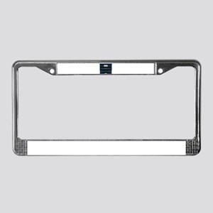 Black Upright Pianola License Plate Frame