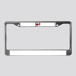 Grand Piano Canadian Flag License Plate Frame