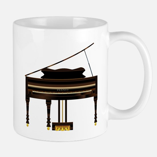 Old Grand Piano Mugs