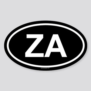 ZA Oval Sticker