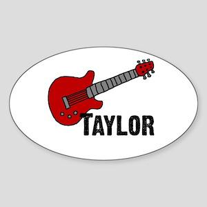 Guitar - Taylor Oval Sticker