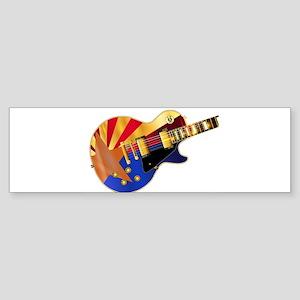 Arizona Flag Guitar Guitar Bumper Sticker