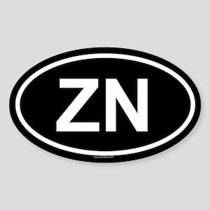 ZN Oval Sticker