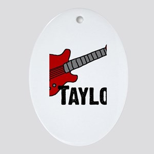 Guitar - Taylor Oval Ornament