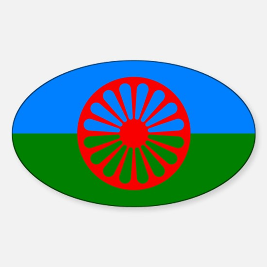 Flag of the Romani people - Romani flag Decal