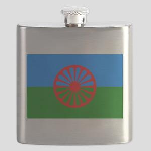 Flag of the Romani people - Romani flag Flask