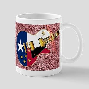 Texas Flag Guitar Guitar Mugs