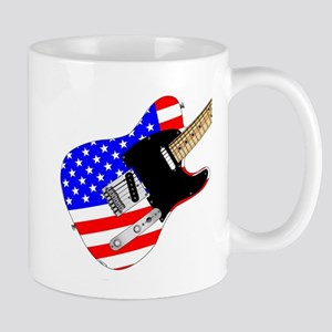 Stars And Stripes Elelctric Guitar Mugs
