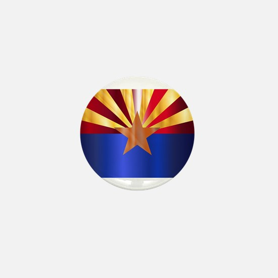 Metal Arizona State Flag Mini Button