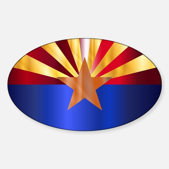 Metal Arizona State Flag Decal