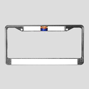 Metal Arizona State Flag License Plate Frame