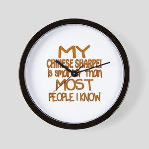My Chinese Sharpei is smarter Wall Clock