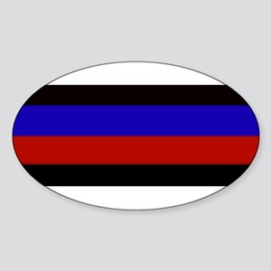 Police & Fire Blue & Red Lines Sticker