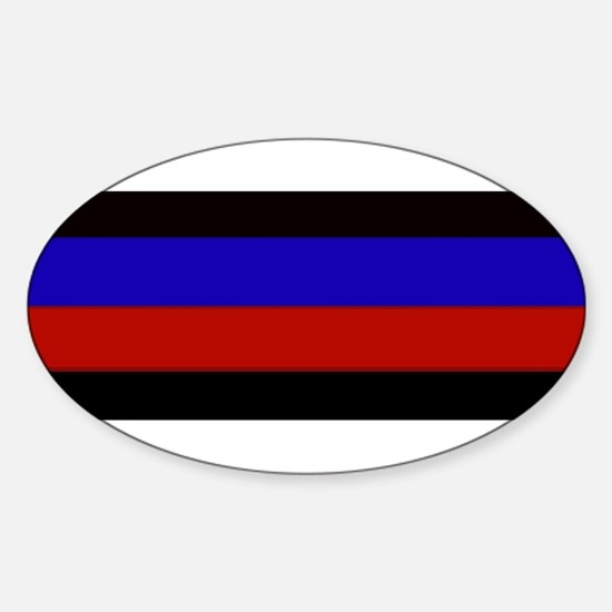 Police & Fire Blue & Red Lines Decal