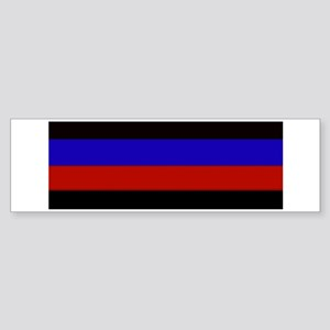 Police & Fire Blue & Red Lines Bumper Sticker