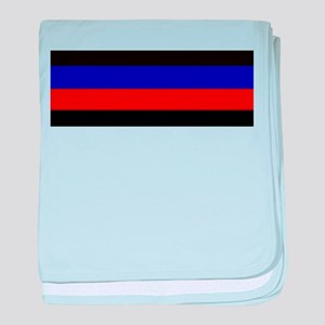 Police & Fire Blue & Red Lines baby blanket