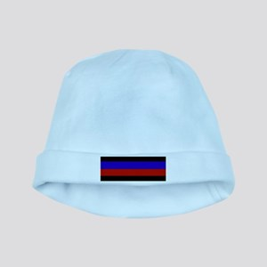 Police & Fire Blue & Red Lines baby hat