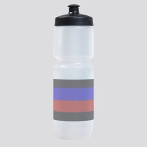 Police & Fire Blue & Red Lines Sports Bottle