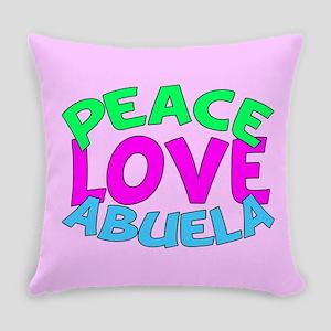 Peace Love Abuela Everyday Pillow