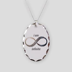 I am infinite - Infinity Symbo Necklace Oval Charm