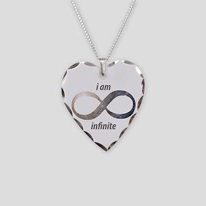 I am infinite - Infinity Symb Necklace Heart Charm