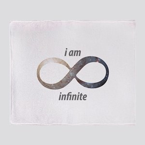 I am infinite - Infinity Symbol Throw Blanket
