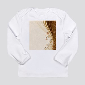 Elegant Floral Abstract Decora Long Sleeve T-Shirt