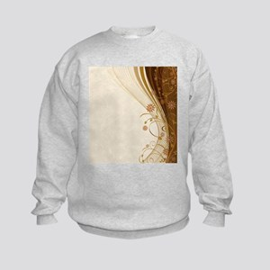 Elegant Floral Abstract Decorative Kids Sweatshirt