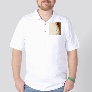 Elegant Floral Abstract Decorative Beig Golf Shirt
