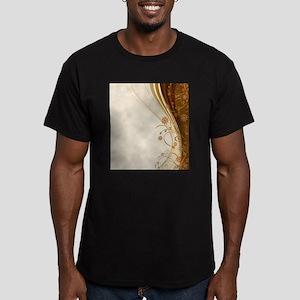 Elegant Floral Abstract Decorative Beige T-Shirt