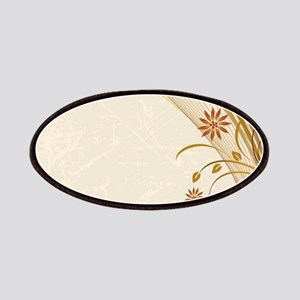 Elegant Floral Abstract Decorative Beige Patch