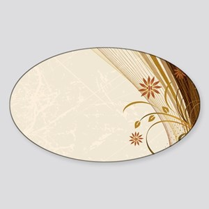 Elegant Floral Abstract Decorative Beige Sticker