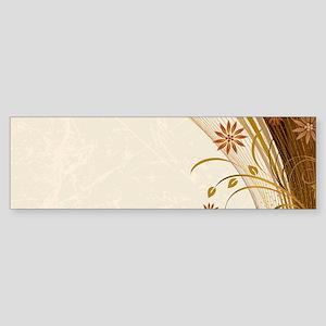 Elegant Floral Abstract Decorative Bumper Sticker
