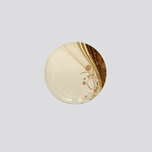 Elegant Floral Abstract Decorative Bei Mini Button