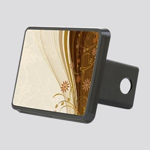 Elegant Floral Abstract De Rectangular Hitch Cover
