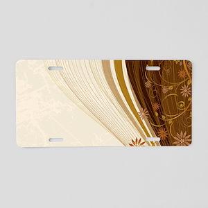 Elegant Floral Abstract Dec Aluminum License Plate