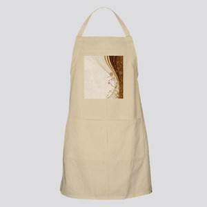 Elegant Floral Abstract Decorative Beige Apron
