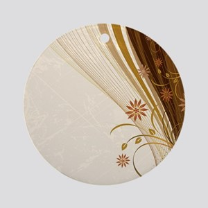 Elegant Floral Abstract Decorative Round Ornament