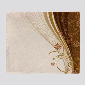 Elegant Floral Abstract Decorative B Throw Blanket