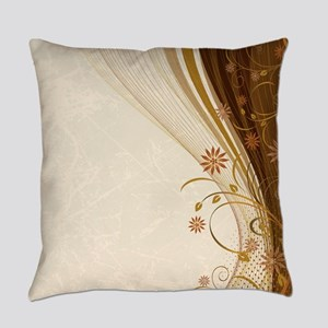 Elegant Floral Abstract Decorative Everyday Pillow