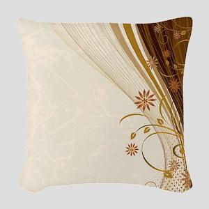 Elegant Floral Abstract Decora Woven Throw Pillow