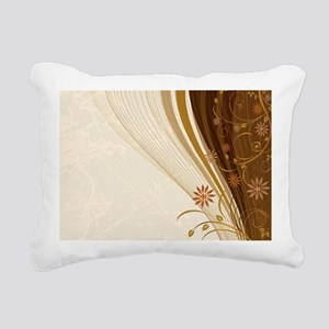 Elegant Floral Abstract Rectangular Canvas Pillow
